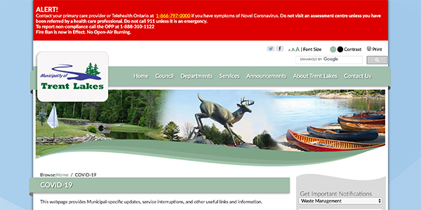 trent lakes website
