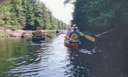 paddlers in bottle creek