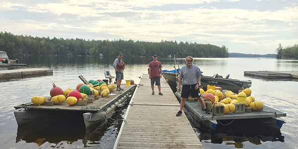 barges with buoys